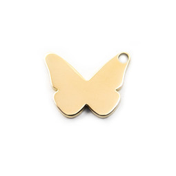 Butterfly Charm - 18ct GOLD Plated- Stainless Steel