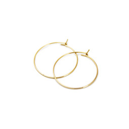 Earring Hoop Pair - 18ct GOLD Plated - Stainless Steel