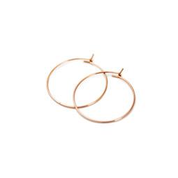 Earring Hoop Pair - 18ct ROSE GOLD Plated - Stainless Steel