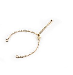 Cable O Chain Bracelet 14cm Double Ended - 18ct GOLD Plated - Stainless Steel