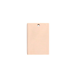 Petite Tag Rectangle - 18ct ROSE Plated - Stainless Steel