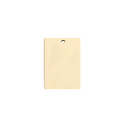 Petite Tag Rectangle - 18ct GOLD Plated - Stainless Steel