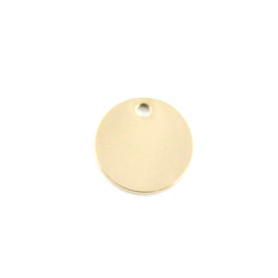 Petite Circle 15mm - 18ct GOLD Plated - Stainless Steel