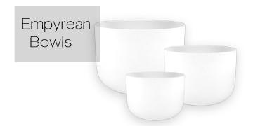 Crystal Clear Handle Singing Bowls