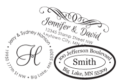 Return Address Custom Stamp Styles