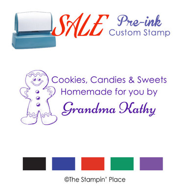 SPECIAL: Gingerbread Style: Pre-ink Stamp