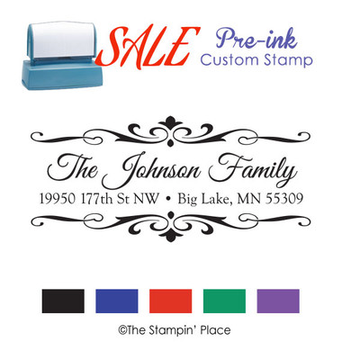SPECIAL: Fancy Address Style: Pre-ink Stamp