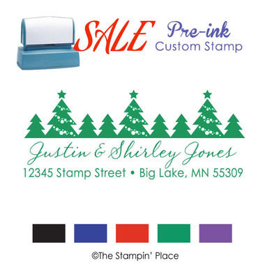 SPECIAL: Trees Address Style: Pre-ink Stamp