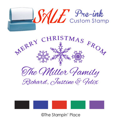 SPECIAL: Snowflakes Signature Style: Pre-ink Stamp