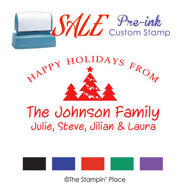 SPECIAL: Trees Signature Style: Pre-ink Stamp