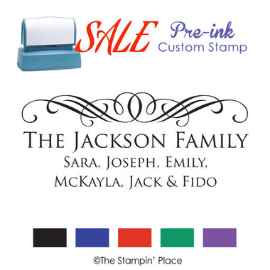 SPECIAL: Scroll Signature Style: Pre-ink Stamp