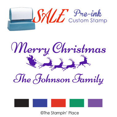 SPECIAL: Sleigh Signature Style: Pre-ink Stamp