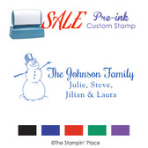 SPECIAL: Snowman Signature Style: Pre-ink Stamp
