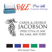 SPECIAL: Pinecone Address Style: Pre-ink Stamp