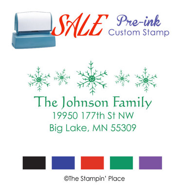 SPECIAL: Snowflakes Address Style: Pre-ink Stamp