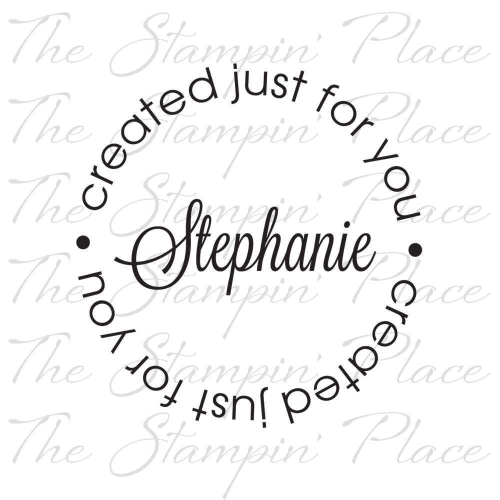 Custom Stamps, Personalized Stamps, Return Address, Circle