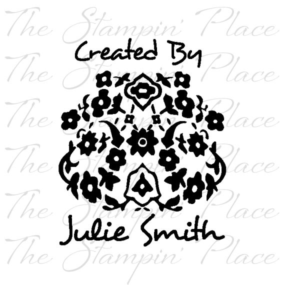 Custom Stamp Style Flower Created By Ps 90