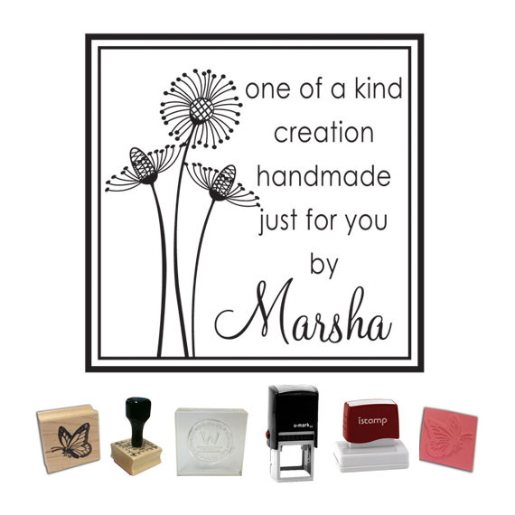 Custom Stamp Style Flowers One Of A Kind Ps 250