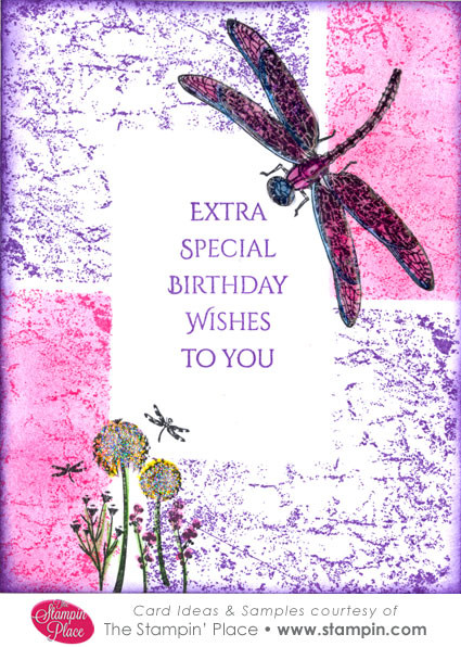 Dragonfly Birthday Wishes Card Ideas Samples Rubber Stamps
