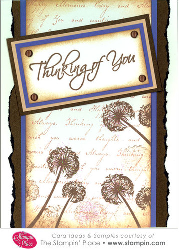 Thinking Of You Dandelions Card Ideas Amp Samples Rubber