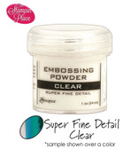 Embossing Powders: Super Fine Detail: Clear