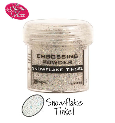 Embossing Powders: Snowflake Tinsel