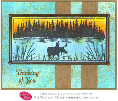 Moose Scene Thinking Of You Card Ideas Amp Samples
