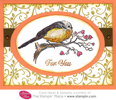 Bird On Branch With Hearts For You Card Ideas Amp Samples