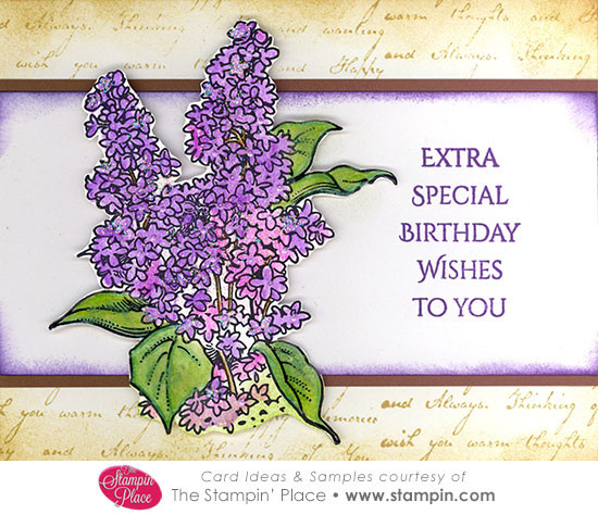 Lilacs Extra Special Birthday Wishes Card Ideas Samples Rubber