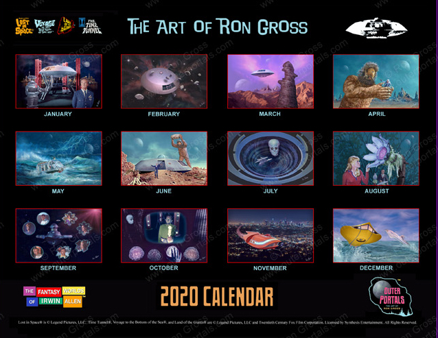 The Fantasy Worlds of Irwin Allen - 2020 Calendar lost in space voyage to the bottom of the sea land of the giants time tunnel