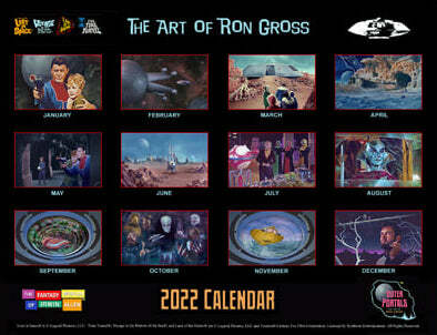The Fantasy Worlds of Irwin Allen - 2022 Calendar Lost in space voyage to the bottom of the sea land of the giants