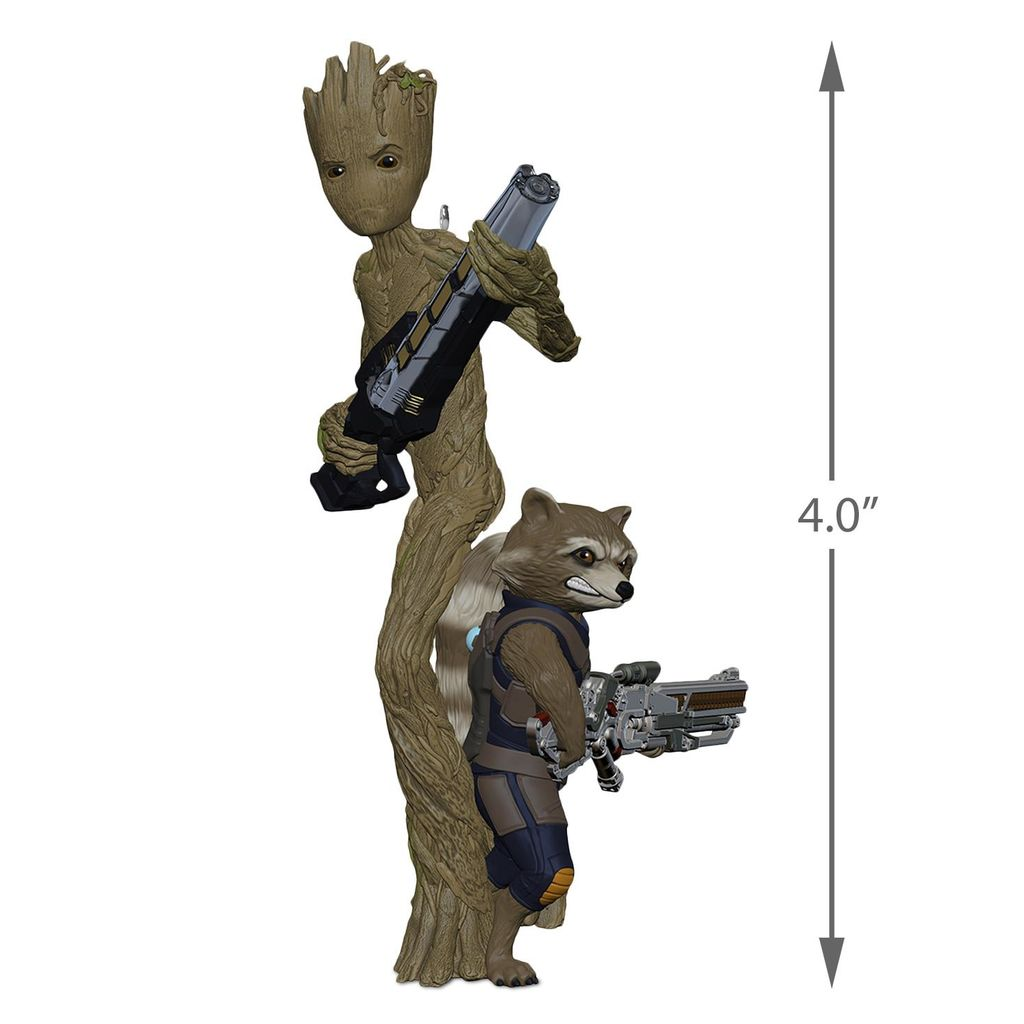 Marvel Avengers: Infinity War Groot and Rocket Hallmark Ornament QXI8556