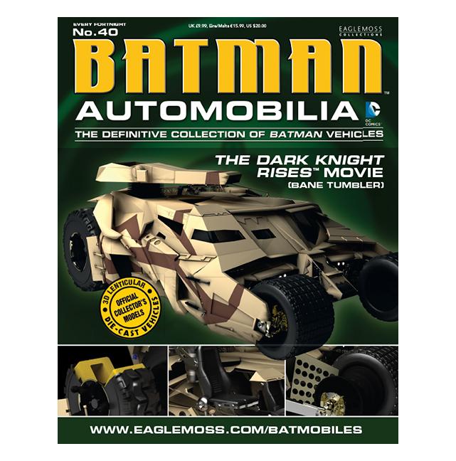 Batman Dark Knight Rises Movie Bane Tumbler Vehicle with Collector Magazine