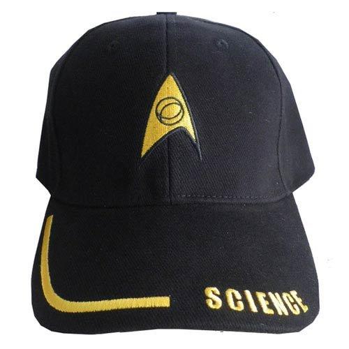 hat002 Star Trek Science Adjustable Black Hat