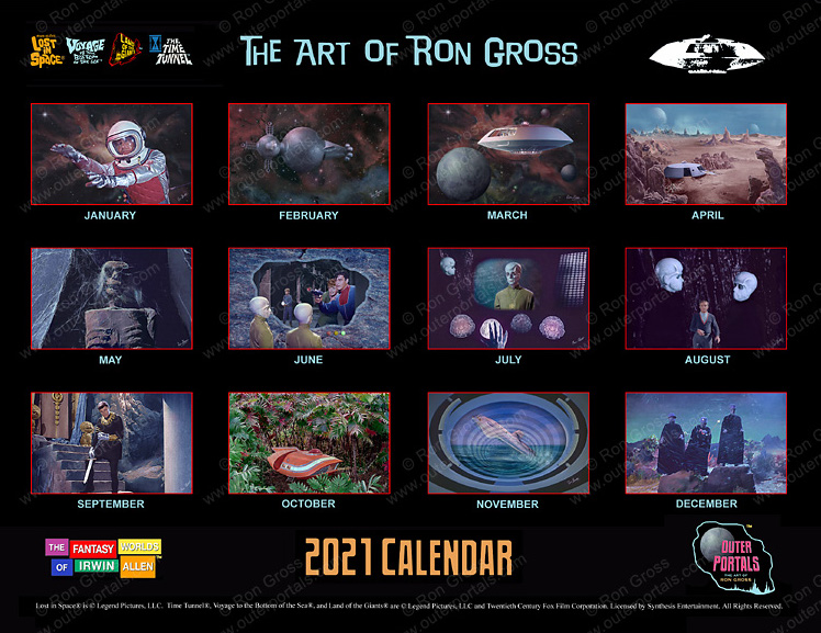 The Fantasy Worlds of Irwin Allen - 2020 Calendar Ron gross Lost in Space