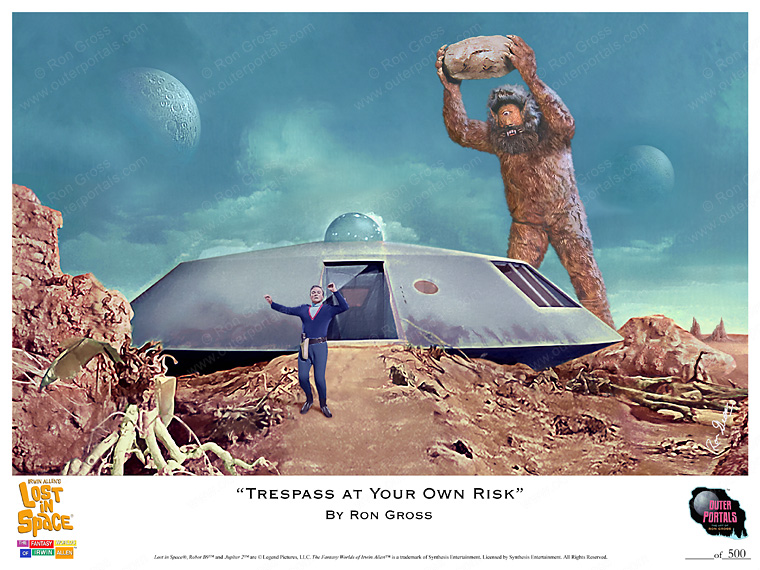 "Lost In Space - ""Trespass at Your Own Risk"" Print - Ron Gross"