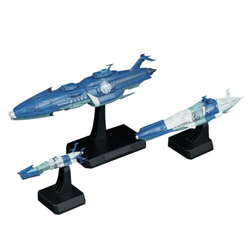 Space Battleship Yamato Yunagi Combined Cosmo Fleet 1:1000 Scale Model Kit Bandai