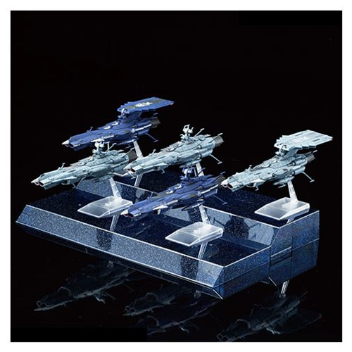 Star Blazers #08 U.N.C.F. Andromeda Class Set Model Kit Bandai