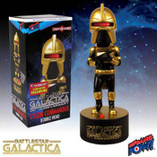 Battlestar Galactica Cylon Commander (Gold) Bobble Head with Lights and Sound - Convention Exclusive