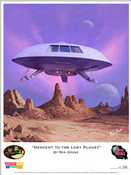 Lost in Space - Decent to the Lost Planet - Jupiter 2 Box Art Print