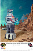 Lost in Space - B9 Robot - Unidentified Sounds Require Investigation - Print