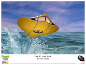 The Flying Sub - Print art by Ron Gross