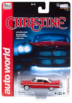 Auto World 1:64 Scale Silver Screen Machine CHRISTINE 1958 Plymouth Fury