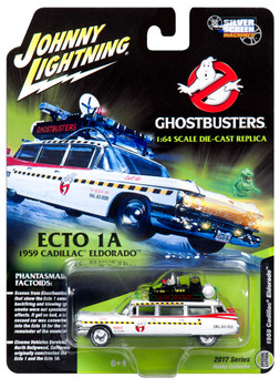 Johnny Lightning JLSS004 1959 Cadillac Ghostbusters Ecto-1A from Ghostbusters 1 Movie 1/64 Diecast Model Car