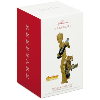 Marvel Avengers: Infinity War Groot and Rocket Hallmark Ornament