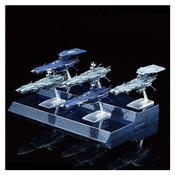 Star Blazers #08 U.N.C.F. Andromeda Class Set Mecha Collection Model Kit