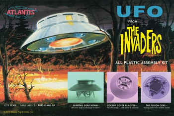 The Invaders UFO 1/72 Scale Model Kit (AMC-1006)