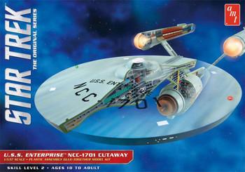 AMT Star Trek TOS USS Enterprise Cutaway 1:537 Scale Model Kit