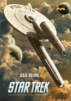 Moebius Models Part Number 976 Star Trek U.S.S. Kelvin Styrene Model Kit