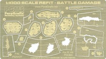 1:1000 Scale Refit Enterprise - Photoetched Battle Damage